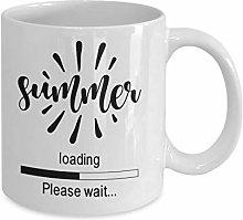 Mugs with Sayings Funny Coffee Mug Summer Loading