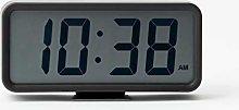 Muji Digital Clock with Alarm, Medium, Black