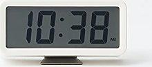 Muji Digital Clock with Alarm, Small, White