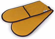 Muldale Double Oven Mitts in Mustard Yellow &