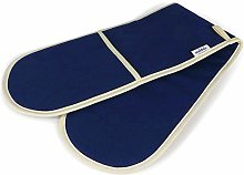 Muldale Double Oven Mitts in Oxford Navy Blue &