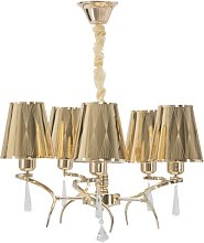 Mullins 5-Light Shaded Chandelier Canora Grey