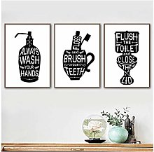 Mulmf Toilet Quotes | Bathroom Wall Art Canvas