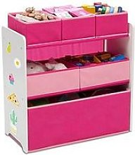Multi Bin Toy Organizer - Pink