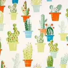Multi-Colour Cactus PVC Vinyl Wipeclean Tablecloth