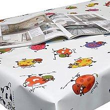 Multi Colour Cows PVC Vinyl Wipeclean Tablecloth