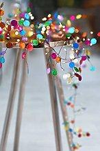 Multi Coloured Confetti String Light with 108 Warm