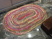 Multi Coloured Eco friendly Oval Braided Natural