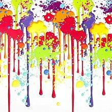 Multi Coloured Paint Splat Novelty Design PVC