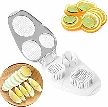 Multi Egg Slicer, Hard Boiled Egg Slicer 3-in-1