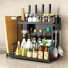 Multi-Function Spice Rack,Stainless Steel 2 Tier