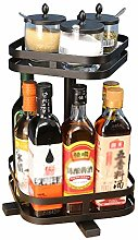Multi-Function Spice Rack,Stainless Steel Rotating