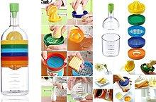 Multi Kitchen Tool Set 8 in 1 Bottle -(Funnel,