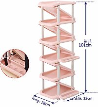 Multi-Layer Pink PP Material, Made of Shoe Rack