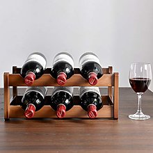 Multi-Layer Wooden Wine Rack, Foldable And