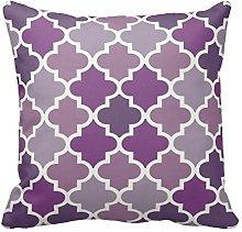 Multi Purple and White Decorative Cushion Covers