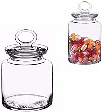 Multi Purpose Clear Glass Jar Container Candy Food