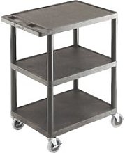 Multi Purpose Plastic Trolleys With 3 Flat Shelves
