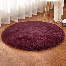 Multi-size Round Rugs Soft Solid Color Home Shaggy