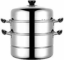 Multi Tier Stainless Steel Food Steamer Cooker Pan