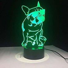 Multicolor 3D Table lamp Acrylic Night Light
