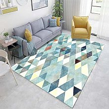 Multicolor Cheap Rug Abstract ink pattern living