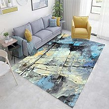 Multicolor Floor Rugs Living Room Abstract ink
