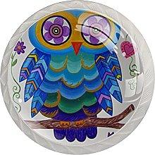 Multicolor owl, Modern Minimalist Printing