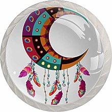 Multicolored Crescent 4PCS Drawer Knobs,Cabinet