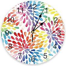 Multicolored Drop Shape 3D Wall Clock Modern