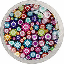 Multicolored Flower Colorful Crystal Glass