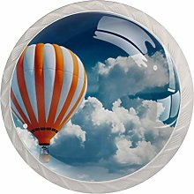 Multicolored Large Balloons Against Blue Sky,