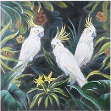 Multicoloured Cockatoo Canvas Print 120x120