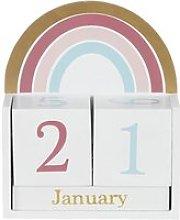 Multicoloured rainbow calendar