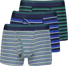 Multicoloured Rugby Stripe Trunk 3 Pack - S
