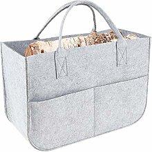 Multifunction Felt Bag Shopping Basket Firewood