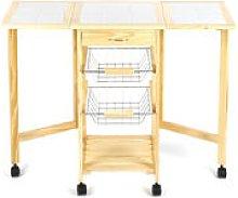 Multifunction Kitchen Trolley on Wheels Kitchen