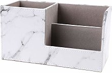 Multifunction Marble Leather Desk Stationery