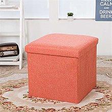Multifunctional Foldable Fabric Stool Storage