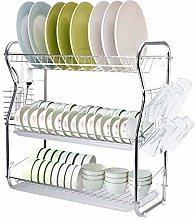 Multifunctional Kitchen Dish Holder Drain Rack, 3