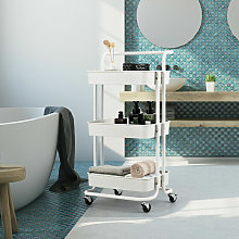 Multifunctional Mobile Trolley Cart with 3-Tier