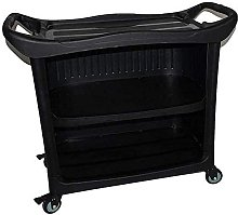 Multifunctional Plastic Trolley With Wheels, With