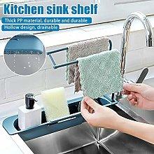 Multifunctional Sink Telescopic Drain Rack,