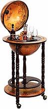 Multigot 360MM Wood Globe Wine Cabinet, Bottles