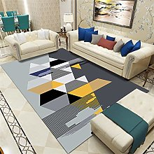 Multilateral geometry Fluffy Rug for the Bedroom,