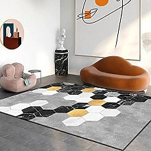 Multilateral geometry Multicoloured Cotton Rug for