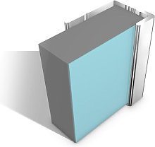 Multipanel End Cap Profile Type C Polished Silver