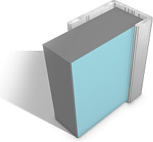 Multipanel End Cap Profile Type C Satin Silver  -