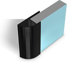 Multipanel Quadrant End Cap Profile Type E Black -