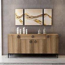 Multipurpose Cabinet Moon with Doors, Shelves,